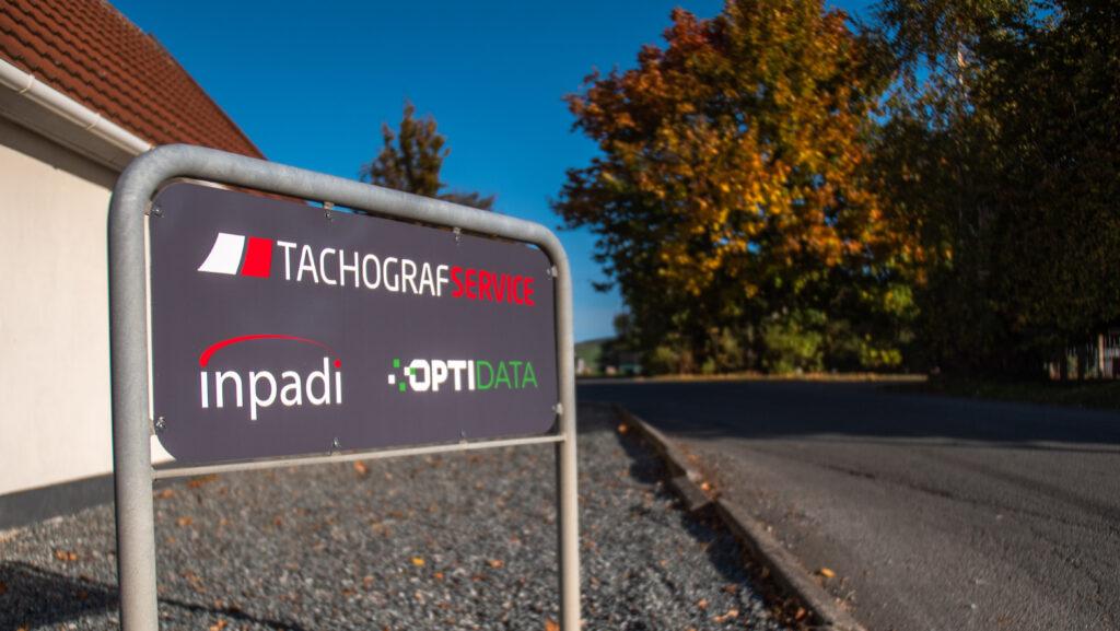 Tachografservice skilt